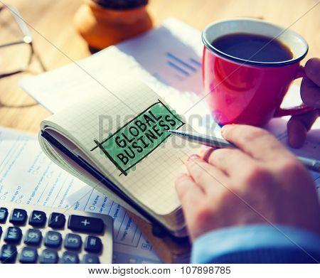 Global Business Marketing Globalization Commerce Concept