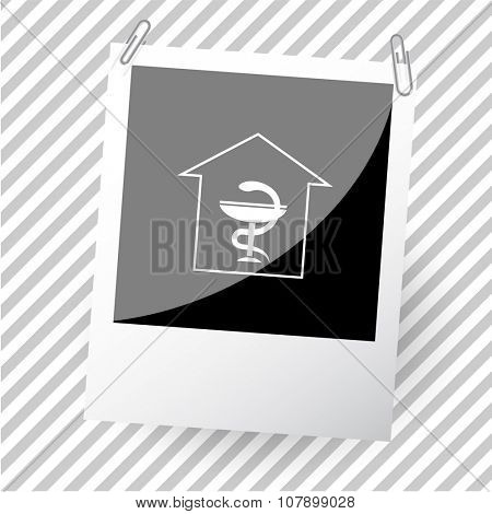pharmacy. Photoframe. Vector icon.