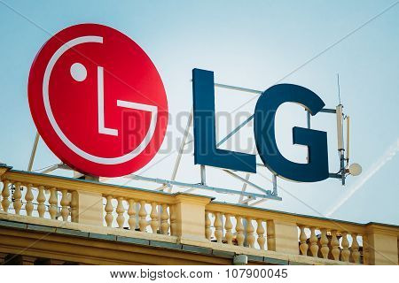 Logo of LG is a South Korean multinational conglomerate corporat