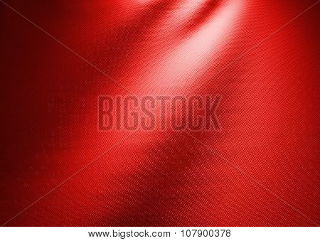 Red Waved Fabric Background Photo Texture