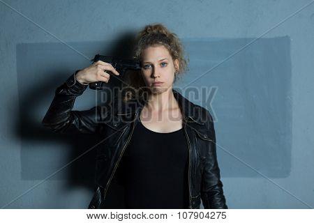 Despair Teenager With Gun