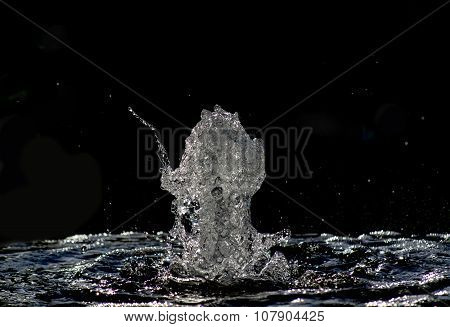 Isolated Water Fountain Close Up