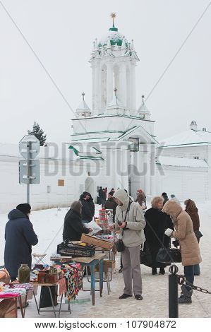 Trade Souvenirs Near The Monastery In Rostov