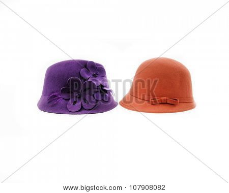 Two woman hat, isolated
