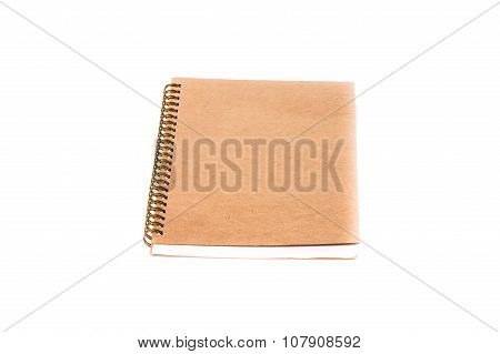 Stack Of Ring Binder Book And Notebook Isolated On White