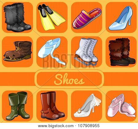 Set of shoes for all seasons and occasions
