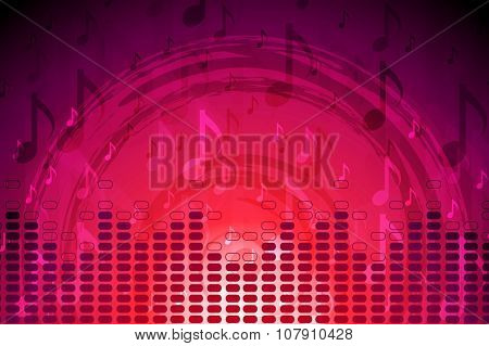 Crimson music flyer abstract background