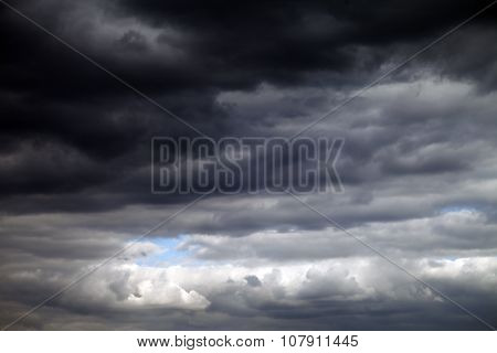 Sky And Dark Clouds Before Storm