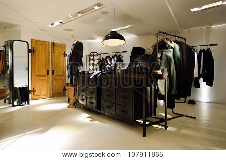 HONG KONG - NOVEMBER 02, 2015: interior of Initial store in New Town Plaza. New Town Plaza is a shopping mall in the town centre of Sha Tin in Hong Kong. Developed by Sun Hung Kai Properties