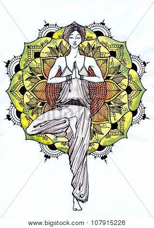 Vrikshasana - Yoga Pose