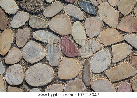 Oval Shaped Pavement Stones