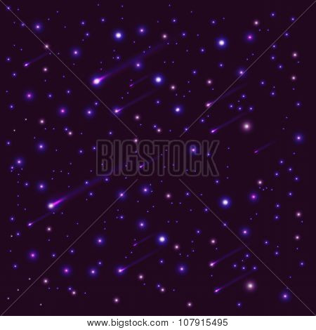 dark background with stars, a scattering of stars