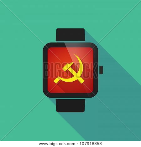 Smart Watch Vector Icon With  The Communist Symbol