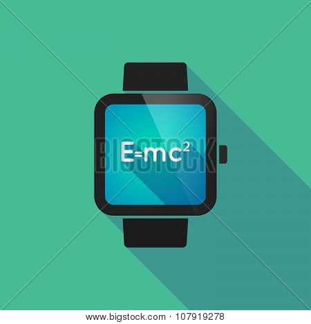 Smart Watch Vector Icon With The Theory Of Relativity Formula