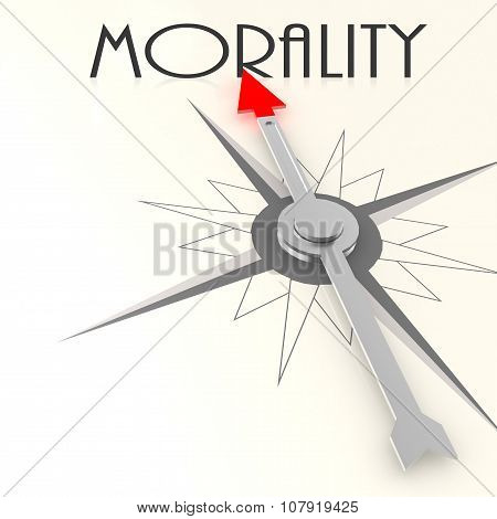 Compass With Morality Word