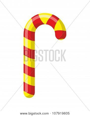 Peppermint Christmas Candy. Festive Sweet Candy. Sweets Striped Stick. Childrens Treats For Holidays