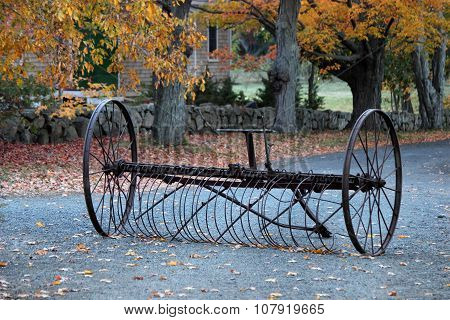 Antique Hay rake in Fall