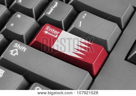 Enter Button With Bahrain Flag