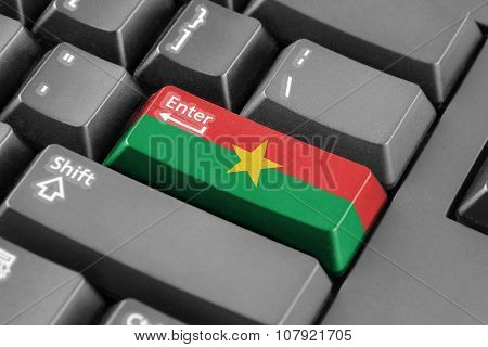 Enter Button With Burkina Faso Flag