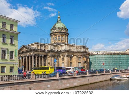 Kazan Cathedral View Fron Channal
