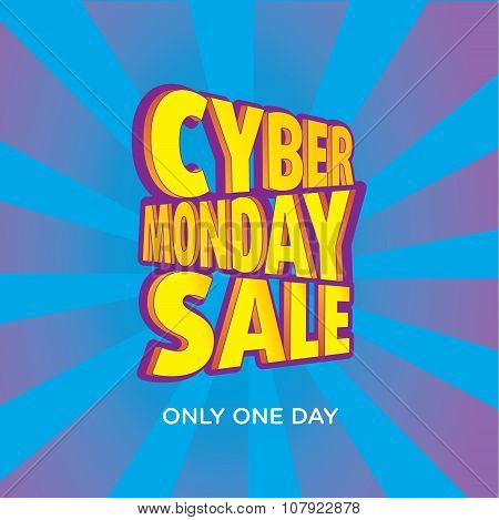 Cyber Monday Sale Vector Template