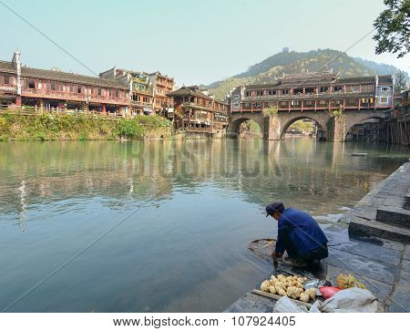 View Of Fenghuang Ancient Town, China