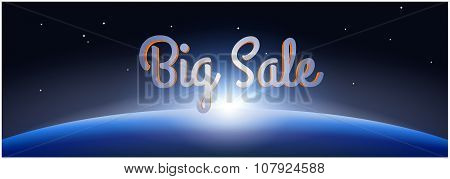Big Sale Poster. Black Friday Banner.