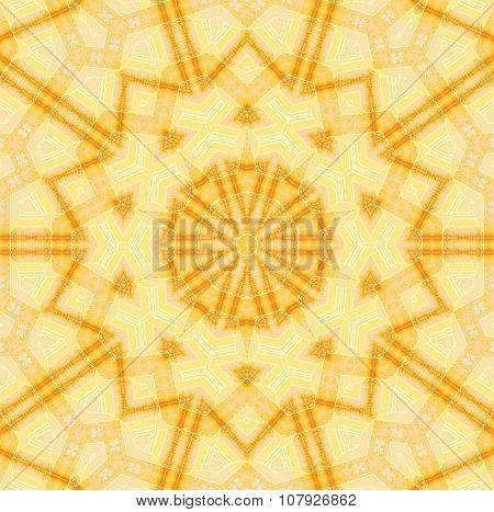Seamless star pattern yellow light brown
