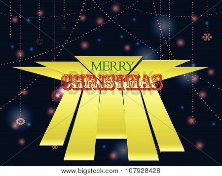 Christmas Text Over Decorated Glowing Background