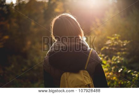 Woman exploring nature