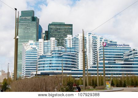 The new business district in the capital of Kazakhstan, Astana. Photo taken on: April 27th, 2013