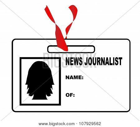 News Journalsit ID Card