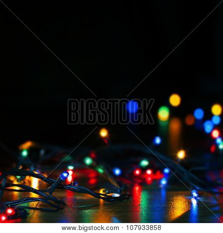 Abstract Lights Of Christmas Decoration Garland