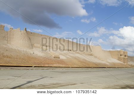 Wall Of The Fortress In The Old City Of Bukhara, Uzbekistan