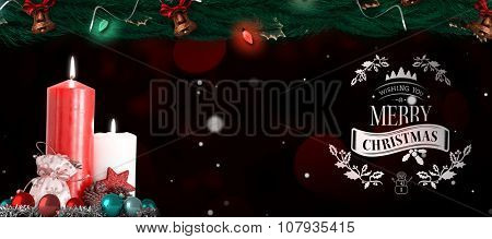 Christmas greeting against digitally generated twinkling light design
