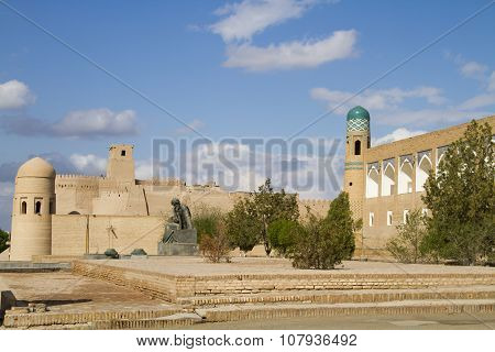 Area In Front Of The Fortress In The Old City Of Khiva, Uzbekistan