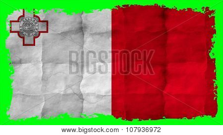 Flag of Malta, Maltese flag painted on paper texture