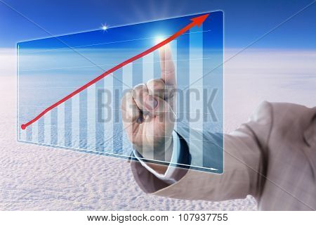Touching A Growth Trend Arrow In A Bar Chart