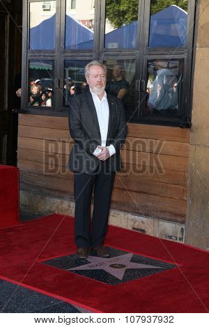LOS ANGELES - NOV 05:  Ridley Scott at the Ridley Scott Hollywood Walk of Fame Star Ceremony at the Hollywood Blvd on November 05, 2015 in Los Angeles, CA