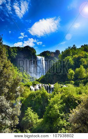 Italian destination, Marmore's falls, tallest man-made waterfall in Europe