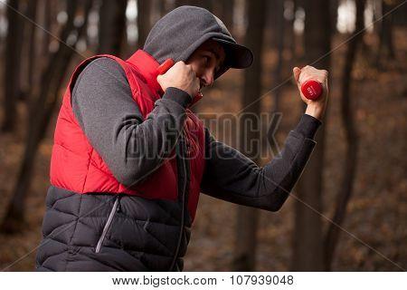 The Athlete Beats Kick.