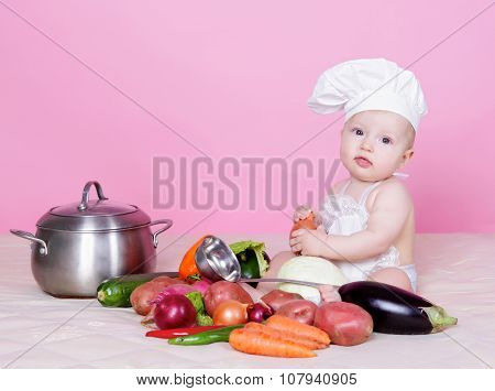 Little cook portrait