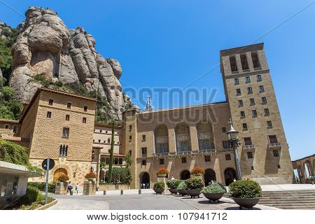 Montserrat Monastery Near Barcelona