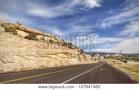 Winding Empty Road, Travel Concept Picture