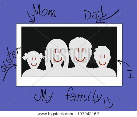 drawn photo of a family