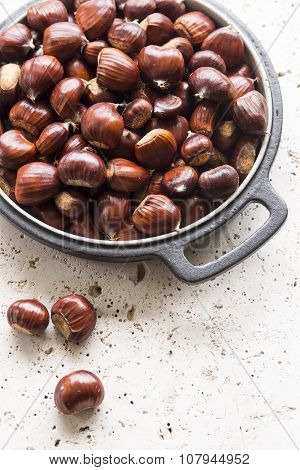 Chestnuts In A Baking Dish
