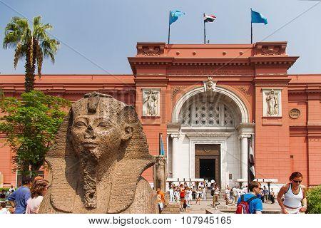 Cairo, Egypt - September 11, 2008: The Egyptian Museum In Cairo.