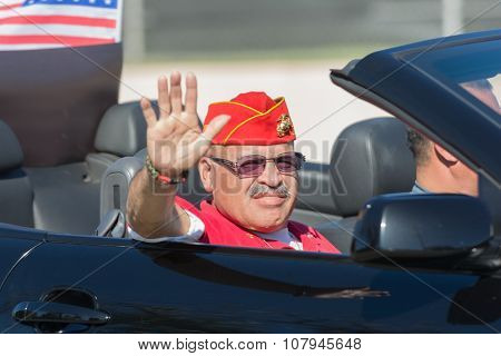 Marine Veteran On The Car