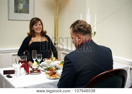 Married Couple In A Restaurant