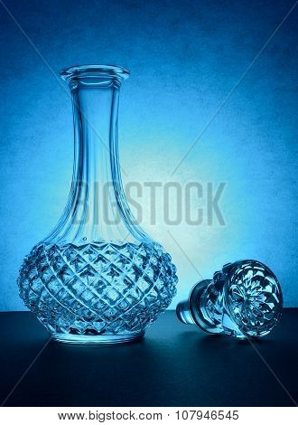Vintage glass bottle without cap